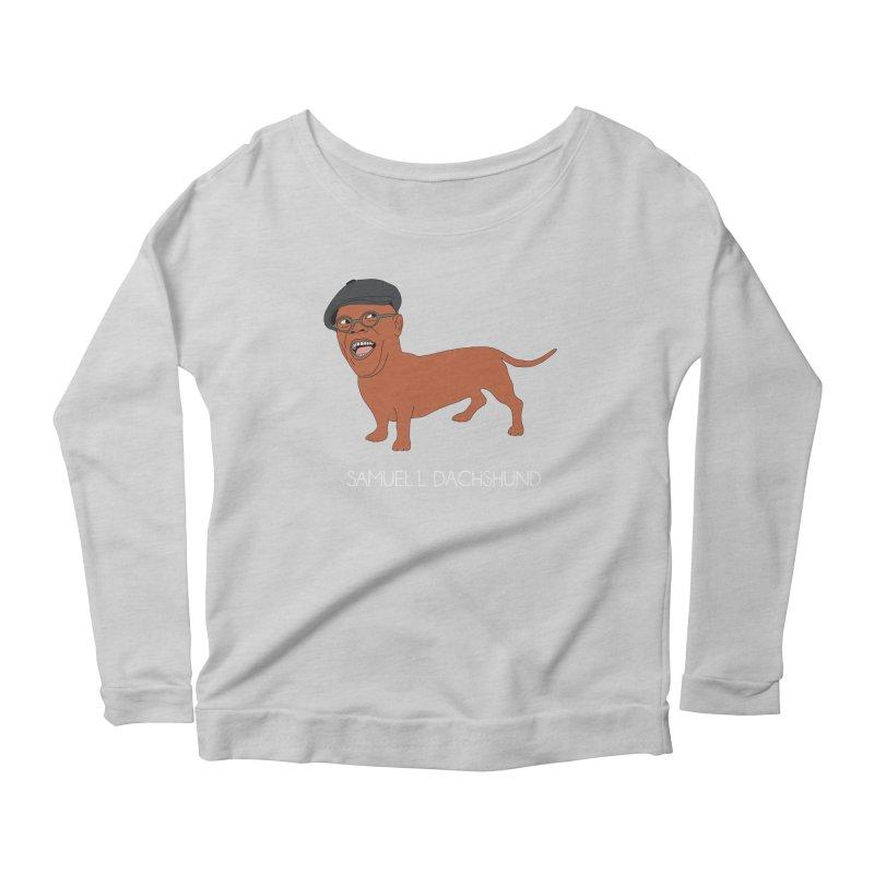 Samuel L. Dachshund Women's Scoop Neck Longsleeve T-Shirt by Chloe Langer