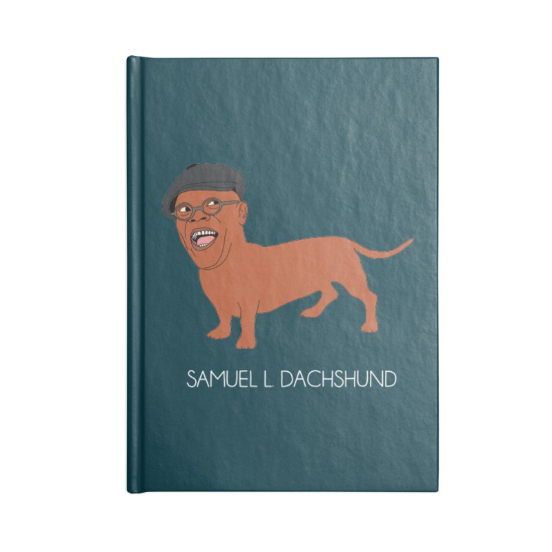 Samuel L. Dachshund Accessories Blank Journal Notebook by Chloe Langer
