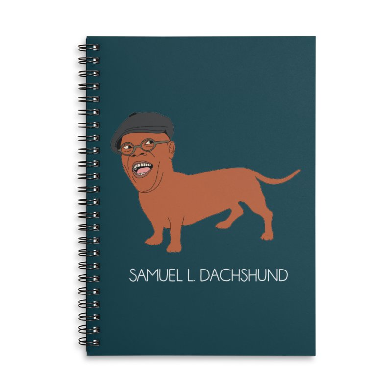 Samuel L. Dachshund Accessories Lined Spiral Notebook by Chloe Langer