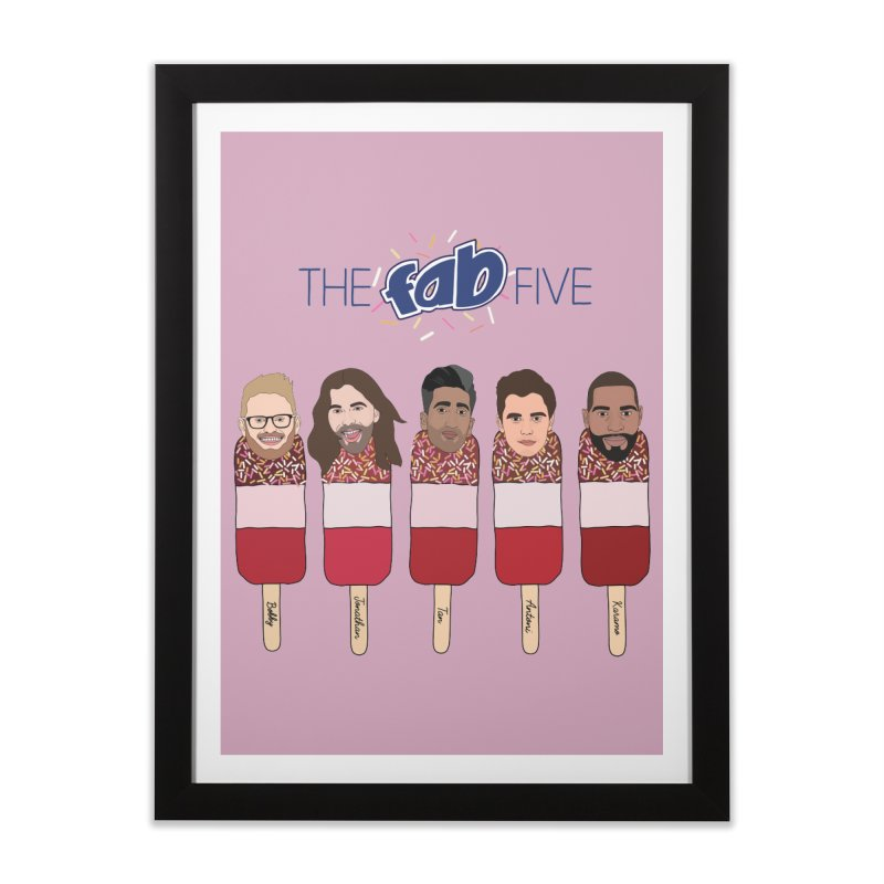 The Fab Five Home Framed Fine Art Print by Chloe Langer