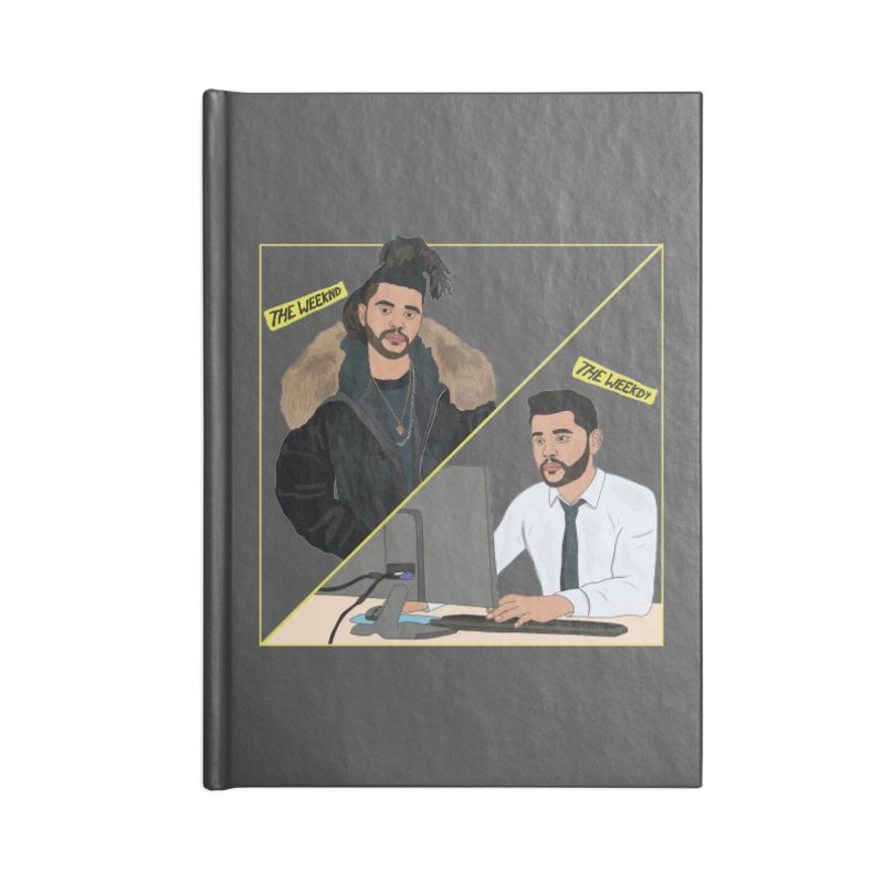 The Weeknd | The Weekdy Accessories Lined Journal Notebook by Chloe Langer