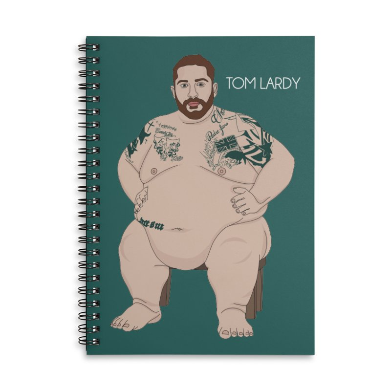 Tom Lardy Accessories Lined Spiral Notebook by Chloe Langer