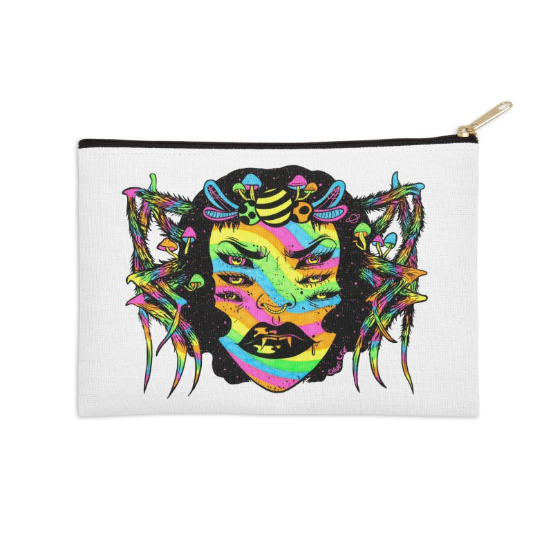 Spider Witch Accessories Zip Pouch by Chloe Lee