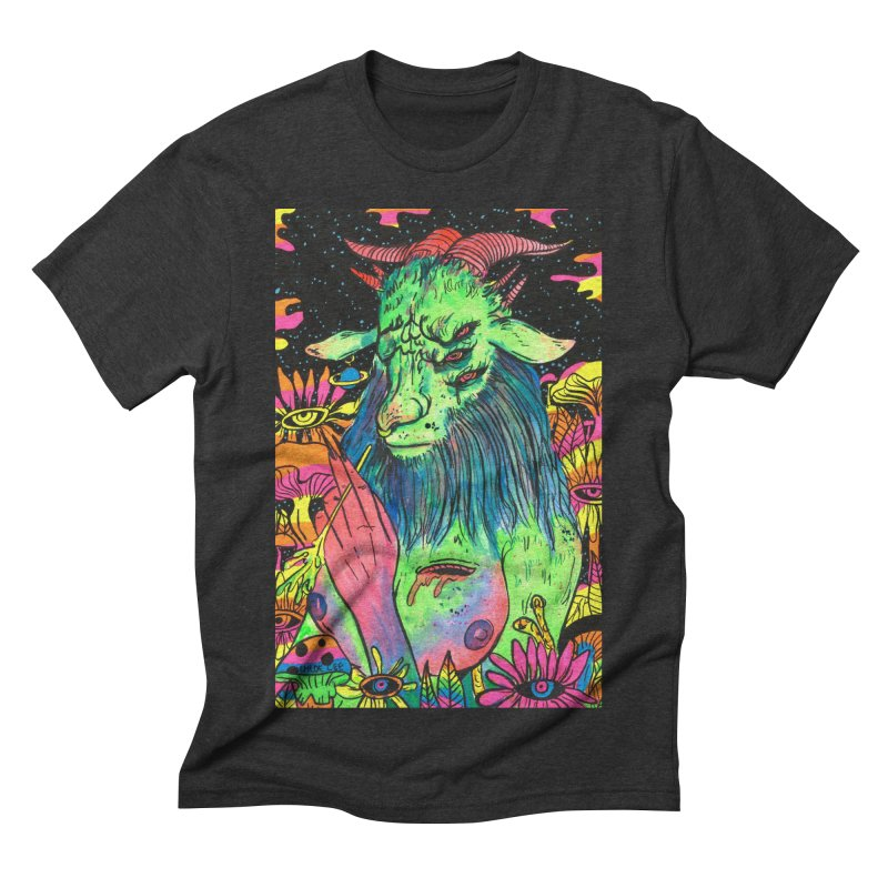Green Demon Men's Triblend T-shirt by Chloe Lee