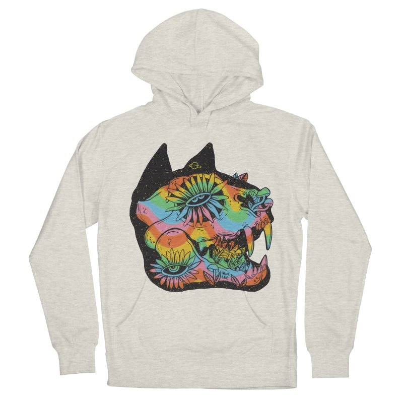 Cat Skull Men's Pullover Hoody by Chloe Lee