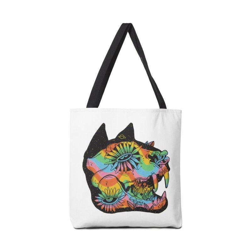 Cat Skull Accessories Bag by Chloe Lee