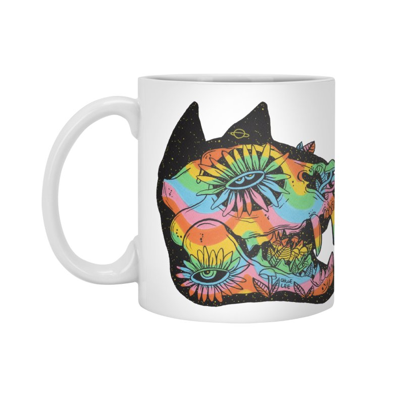 Cat Skull Accessories Mug by Chloe Lee