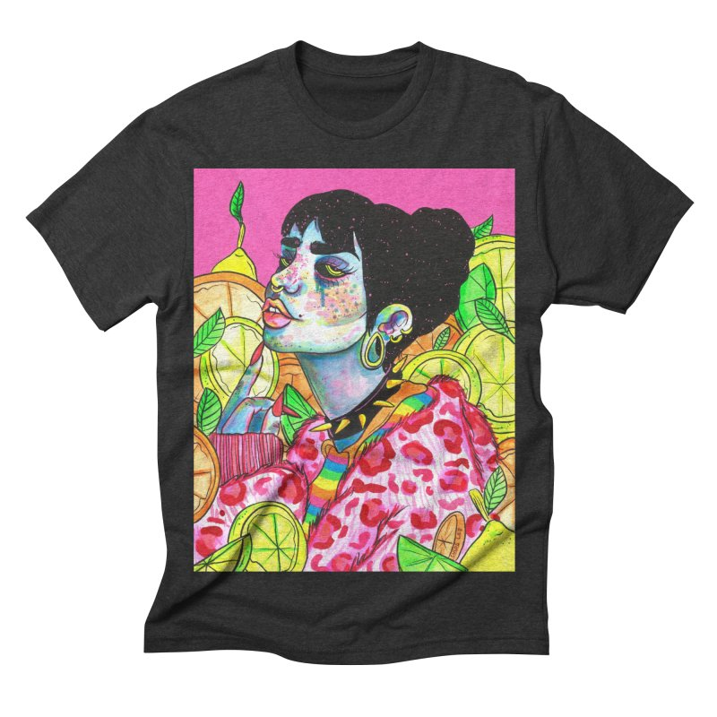Going Sour Men's Triblend T-shirt by Chloe Lee