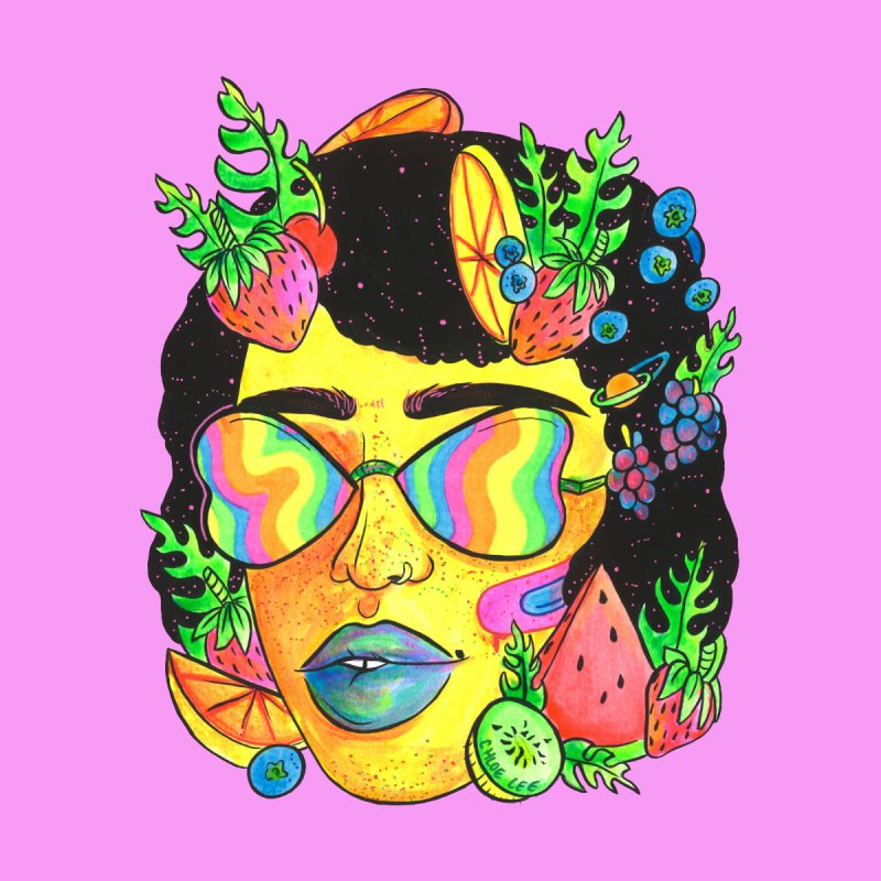 Fruit Head Women's Unisex T-Shirt by Chloe Lee