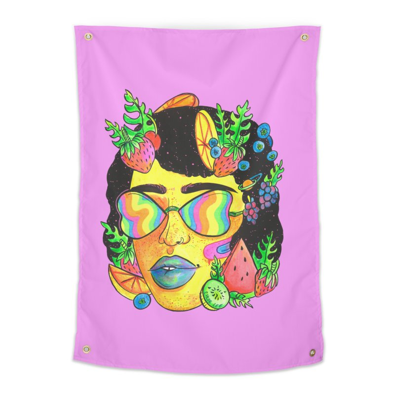Fruit Head Home Tapestry by Chloe Lee