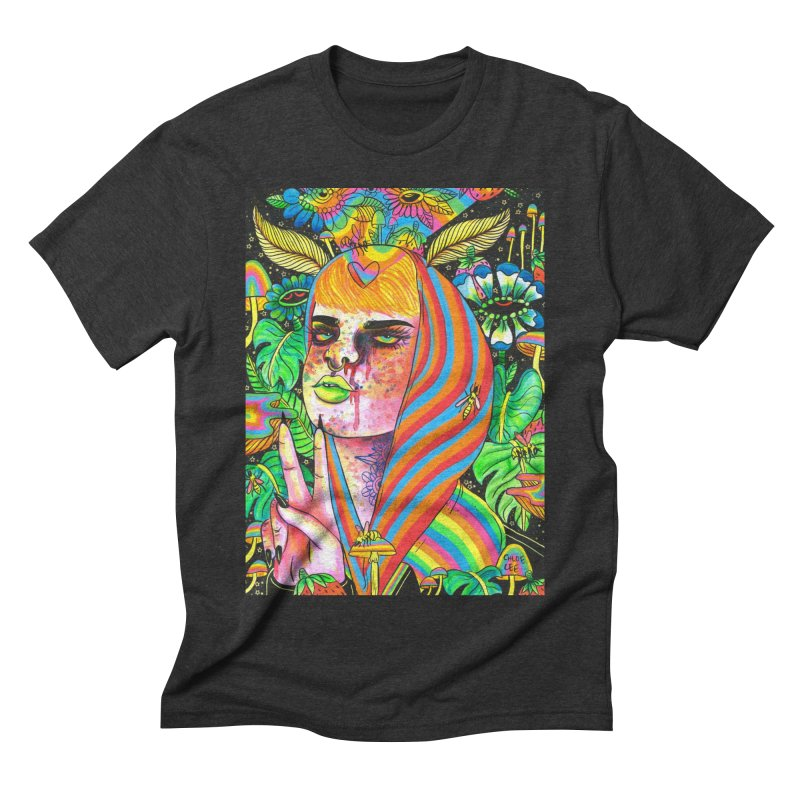Peace Out Men's Triblend T-shirt by Chloe Lee