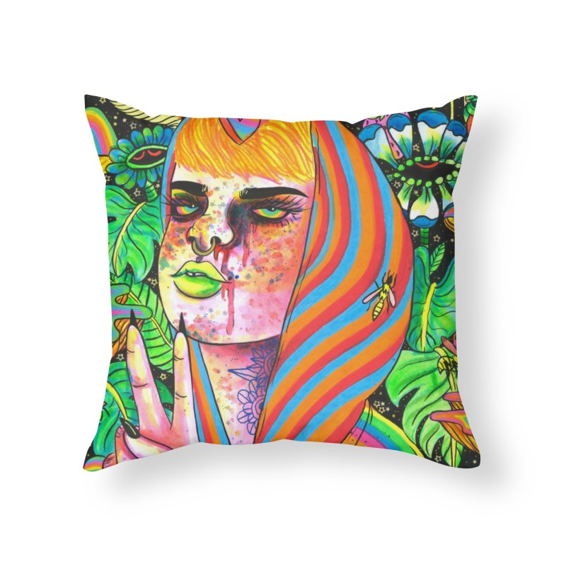 Peace Out Home Throw Pillow by Chloe Lee