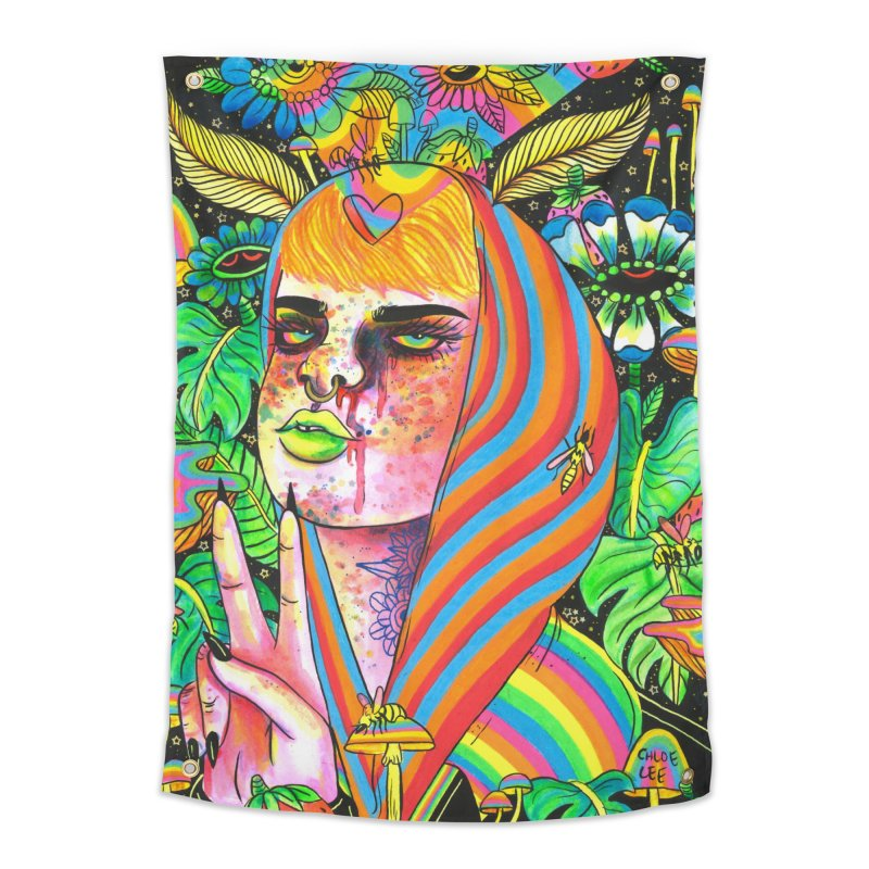 Peace Out Home Tapestry by Chloe Lee