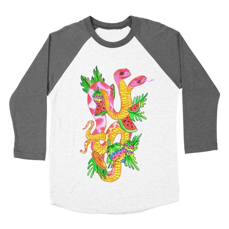 Snake Twins Men's Baseball Triblend T-Shirt by Chloe Lee