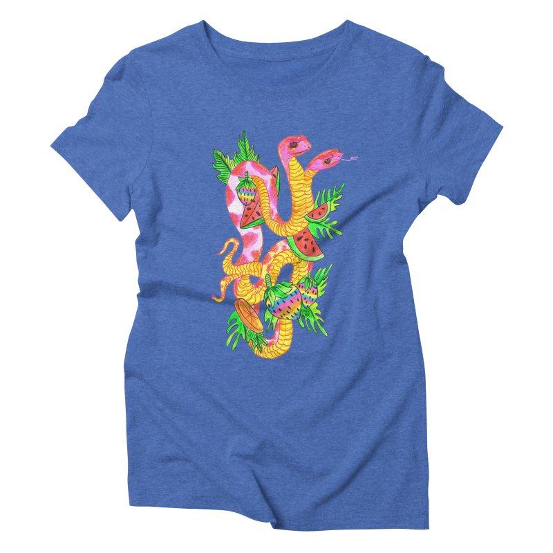 Snake Twins Women's Triblend T-Shirt by Chloe Lee