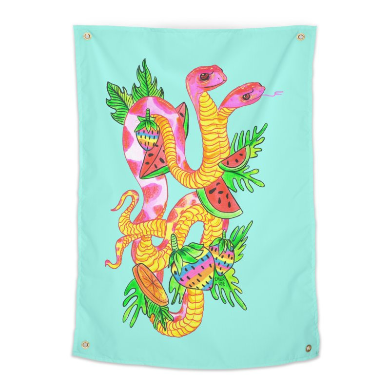 Snake Twins Home Tapestry by Chloe Lee