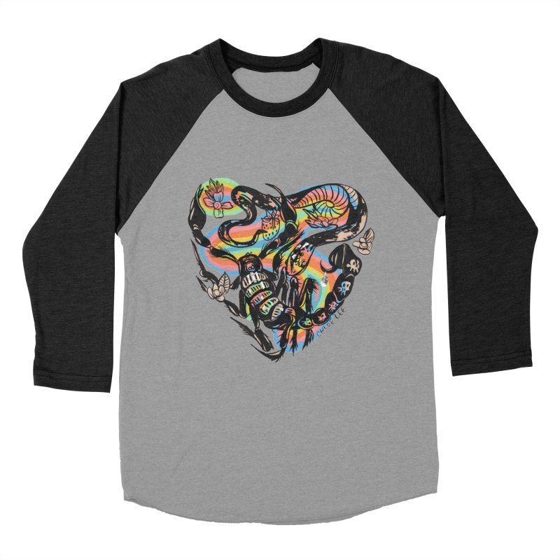Venom Battle Men's Baseball Triblend T-Shirt by Chloe Lee