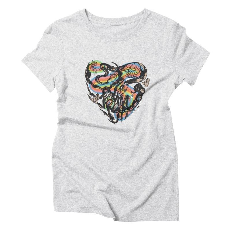 Venom Battle Women's Triblend T-Shirt by Chloe Lee