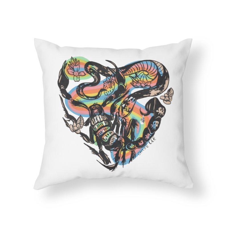 Venom Battle Home Throw Pillow by Chloe Lee