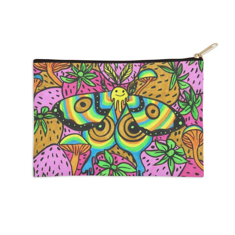 Smiley Accessories Zip Pouch by Chloe Lee
