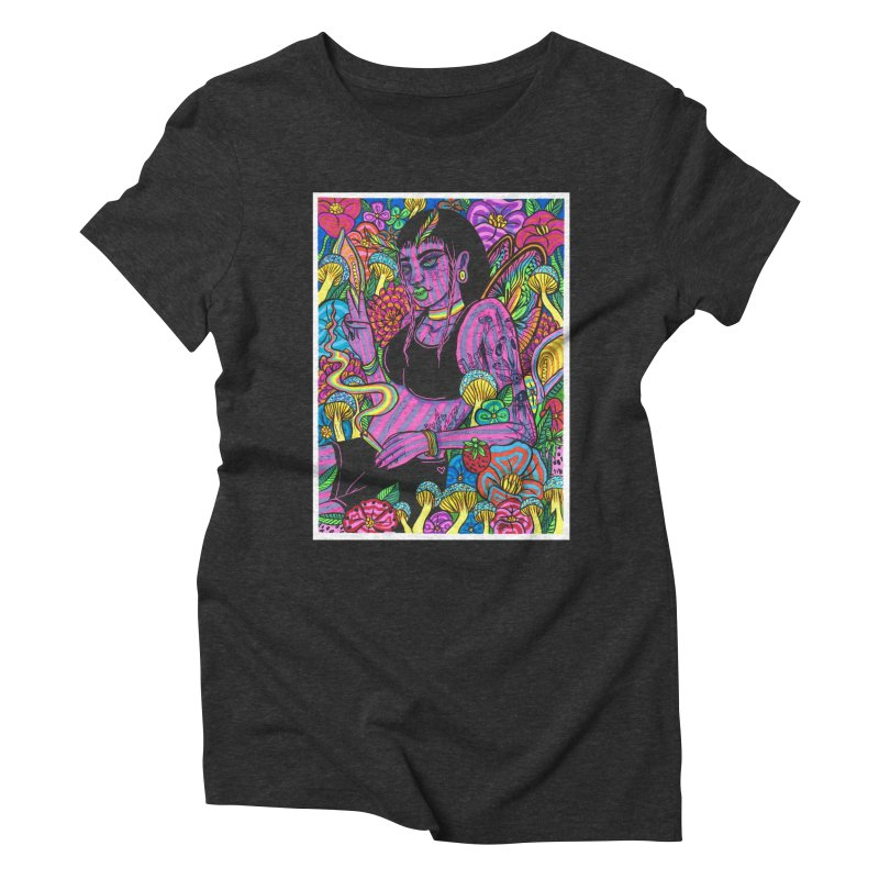 Spring Queen Women's Triblend T-Shirt by Chloe Lee
