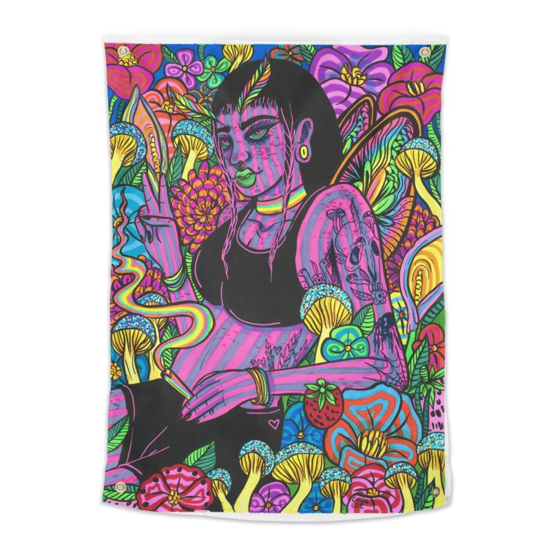 Spring Queen Home Tapestry by Chloe Lee