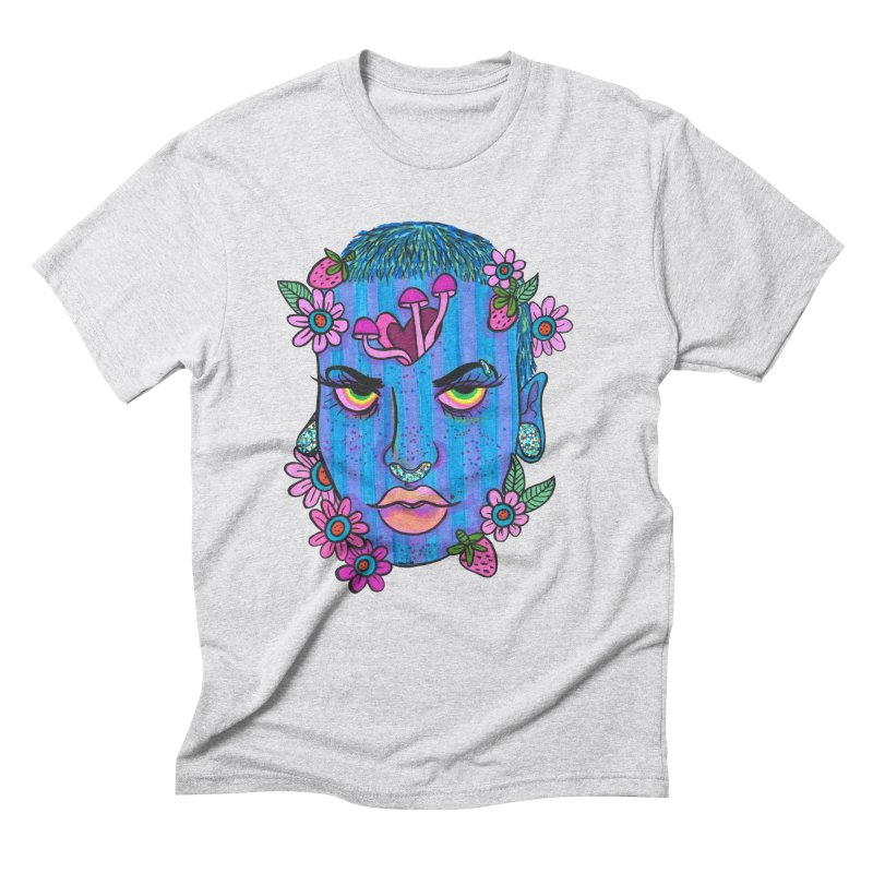 Feeling Blue Men's Triblend T-Shirt by Chloe Lee