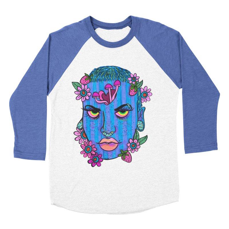 Feeling Blue Men's Baseball Triblend T-Shirt by Chloe Lee