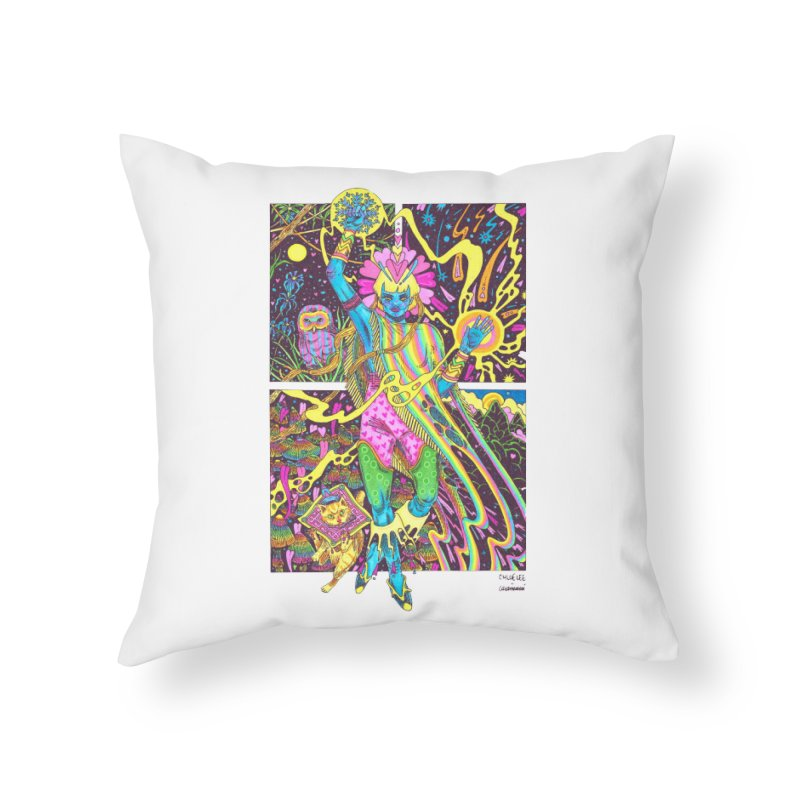 Goddess of Nature COLLAB Home Throw Pillow by Chloe Lee