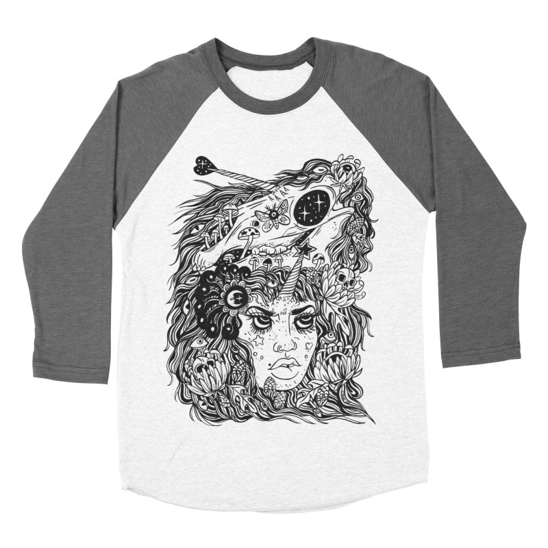 Unicorn and the Cosmic Queen Men's Baseball Triblend Longsleeve T-Shirt by Chloe Lee