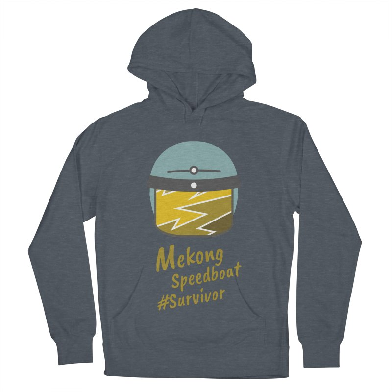 Mekong Speedboat Survivor Women's French Terry Pullover Hoody by BeyondMekong | Inspired by SEA Wanderlust