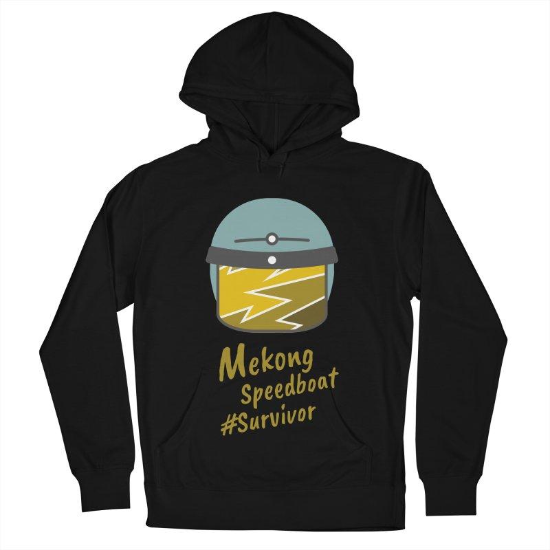 Mekong Speedboat Survivor Men's French Terry Pullover Hoody by BeyondMekong | Inspired by SEA Wanderlust