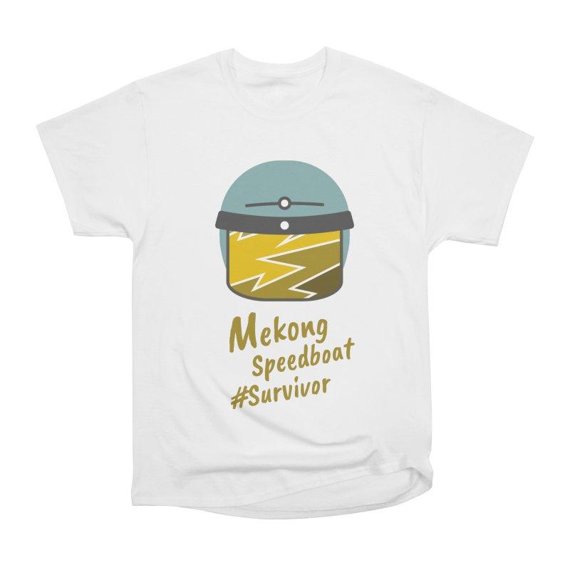 Mekong Speedboat Survivor Women's Heavyweight Unisex T-Shirt by BeyondMekong | Inspired by SEA Wanderlust