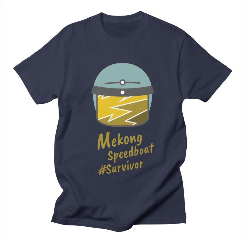 Mekong Speedboat Survivor Men's Regular T-Shirt by BeyondMekong | Inspired by SEA Wanderlust