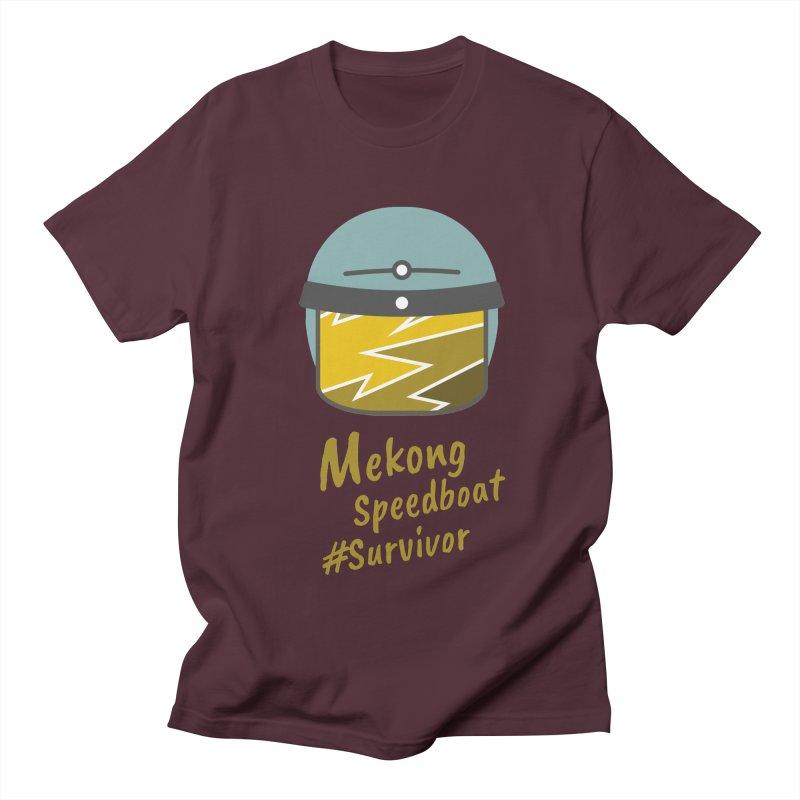Mekong Speedboat Survivor Men's Regular T-Shirt by BeyondMekong   Inspired by SEA Wanderlust
