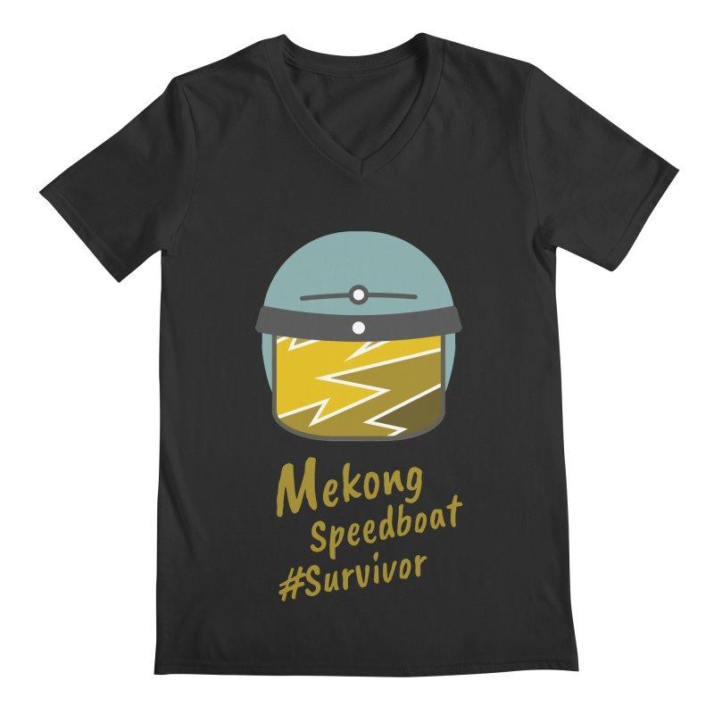 Mekong Speedboat Survivor Men's Regular V-Neck by BeyondMekong | Inspired by SEA Wanderlust