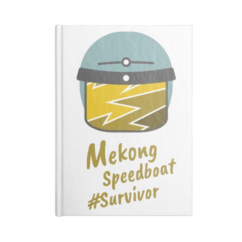 Mekong Speedboat Survivor Accessories Lined Journal Notebook by BeyondMekong | Inspired by SEA Wanderlust