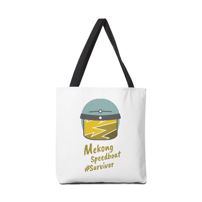 Mekong Speedboat Survivor Accessories Tote Bag Bag by BeyondMekong | Inspired by SEA Wanderlust