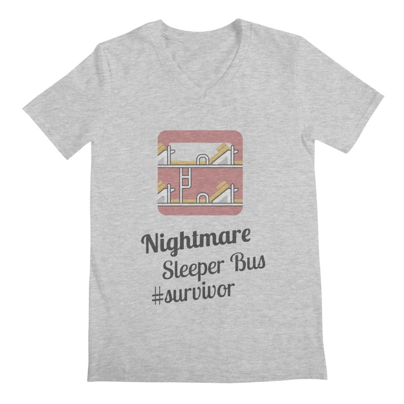 Nightmare Sleeper Bus Men's V-Neck by BeyondMekong | Inspired by SEA Wanderlust