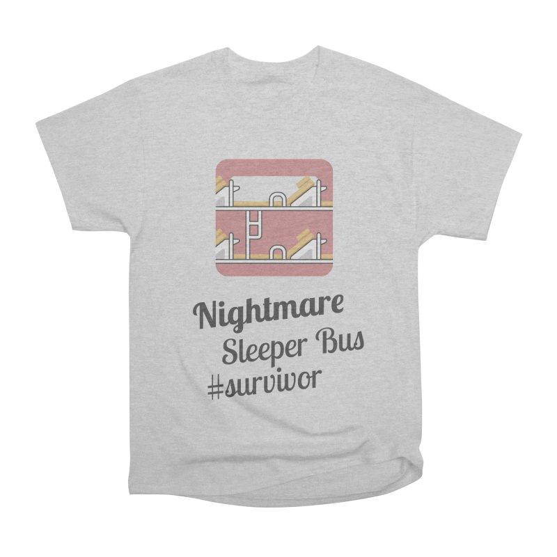 Nightmare Sleeper Bus Women's Heavyweight Unisex T-Shirt by BeyondMekong | Inspired by SEA Wanderlust