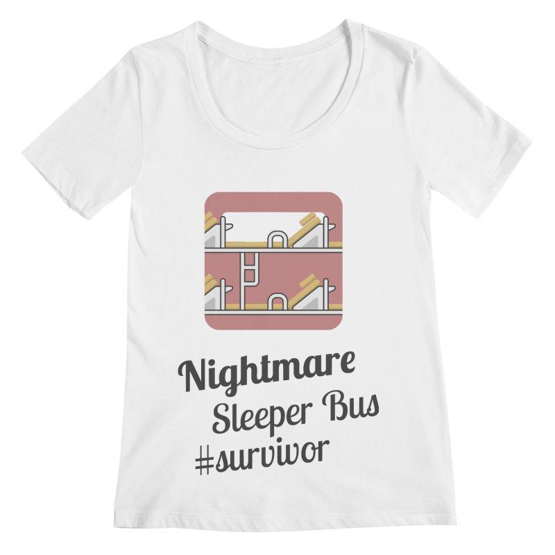 Nightmare Sleeper Bus Women's Regular Scoop Neck by BeyondMekong | Inspired by SEA Wanderlust