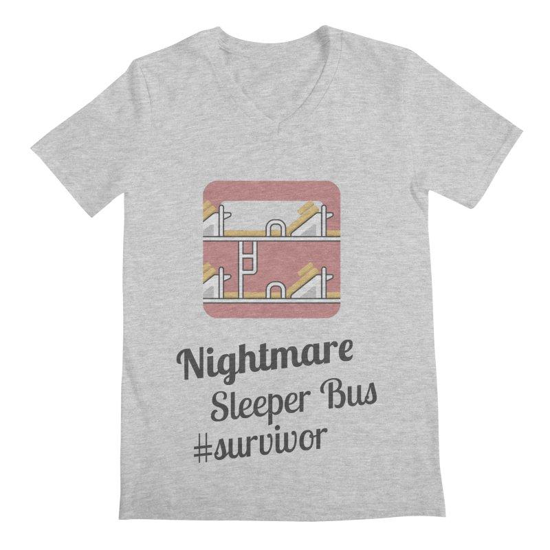 Nightmare Sleeper Bus Men's Regular V-Neck by BeyondMekong | Inspired by SEA Wanderlust