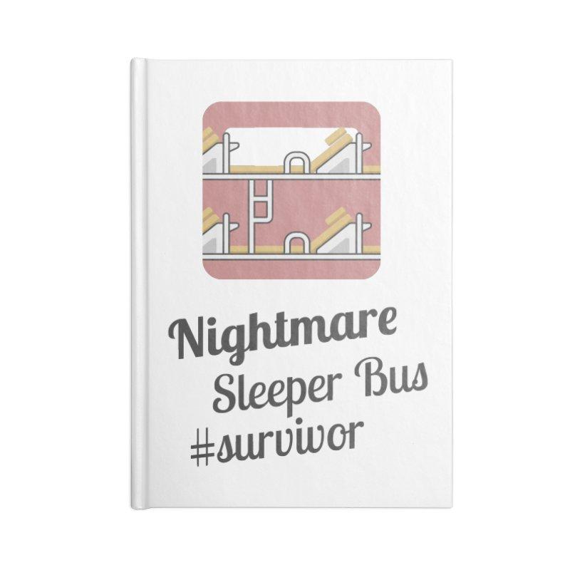 Nightmare Sleeper Bus Accessories Lined Journal Notebook by BeyondMekong | Inspired by SEA Wanderlust