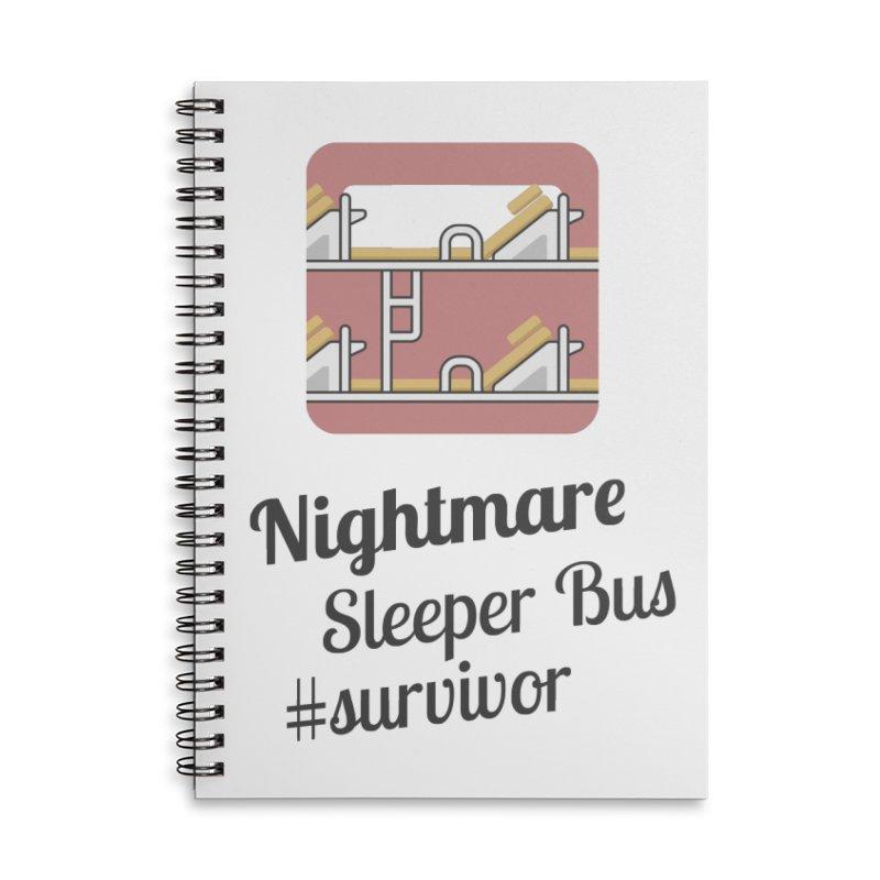 Nightmare Sleeper Bus Accessories Lined Spiral Notebook by BeyondMekong | Inspired by SEA Wanderlust