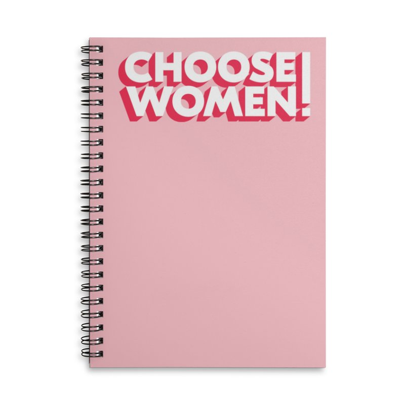Pink Accessories Notebook by choosewomen's Artist Shop