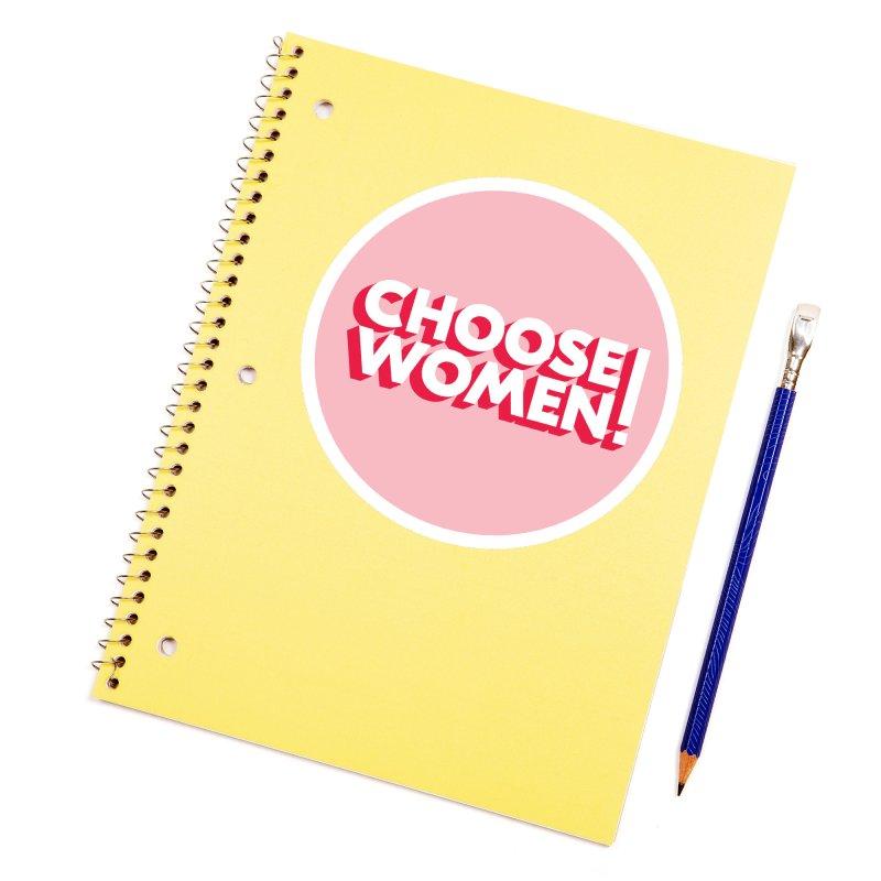 Pink Accessories Sticker by choosewomen's Artist Shop