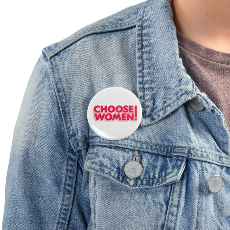 White Accessories Button by choosewomen's Artist Shop