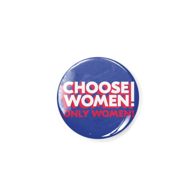 Blue Accessories Button by choosewomen's Artist Shop