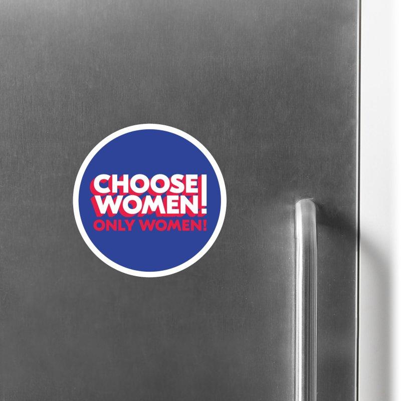 Blue Accessories Magnet by choosewomen's Artist Shop