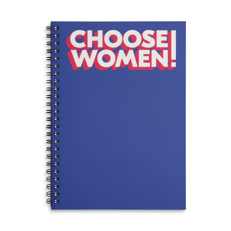 Blue Accessories Notebook by choosewomen's Artist Shop